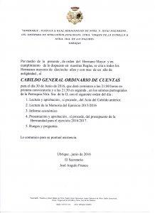CABILDO GENERAL ORDINARIO DE CUENTAS 2016